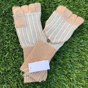 J. Crew Fingerless Cashmere Blend Gloves NWT